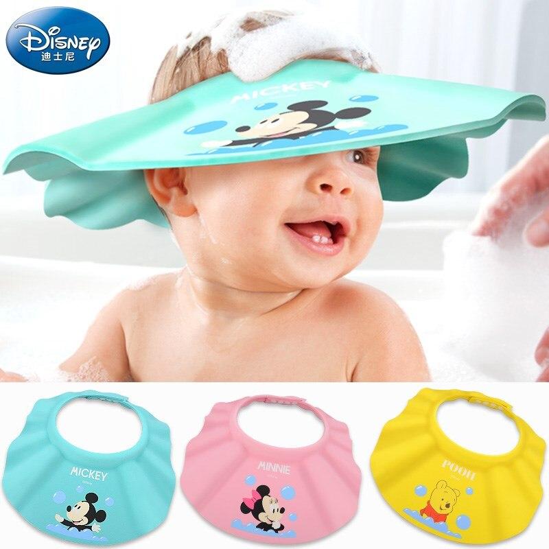Disney Baby Products Kids Bath Head Baby Shower Cap Disney Babies Mickey Minnie Shampoo Cap Infant Hair Cap Adjustable Bath Hat