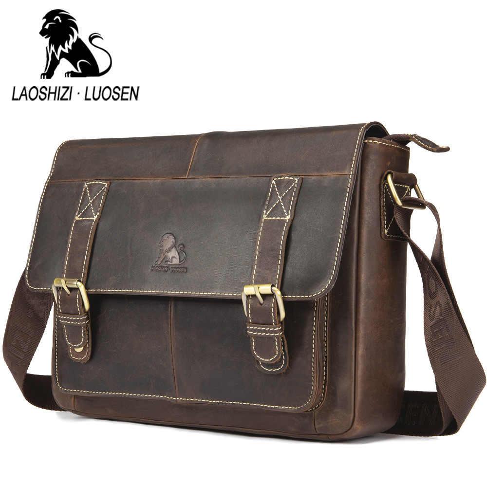 9db332a79511 ... Мужские портфели из натуральной кожи, ретро сумки через плечо, модные  Чехлы для iPad, ...