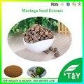 China 10:1 Extracto de Semilla de Moringa suplemento nutricional 100 g/lote