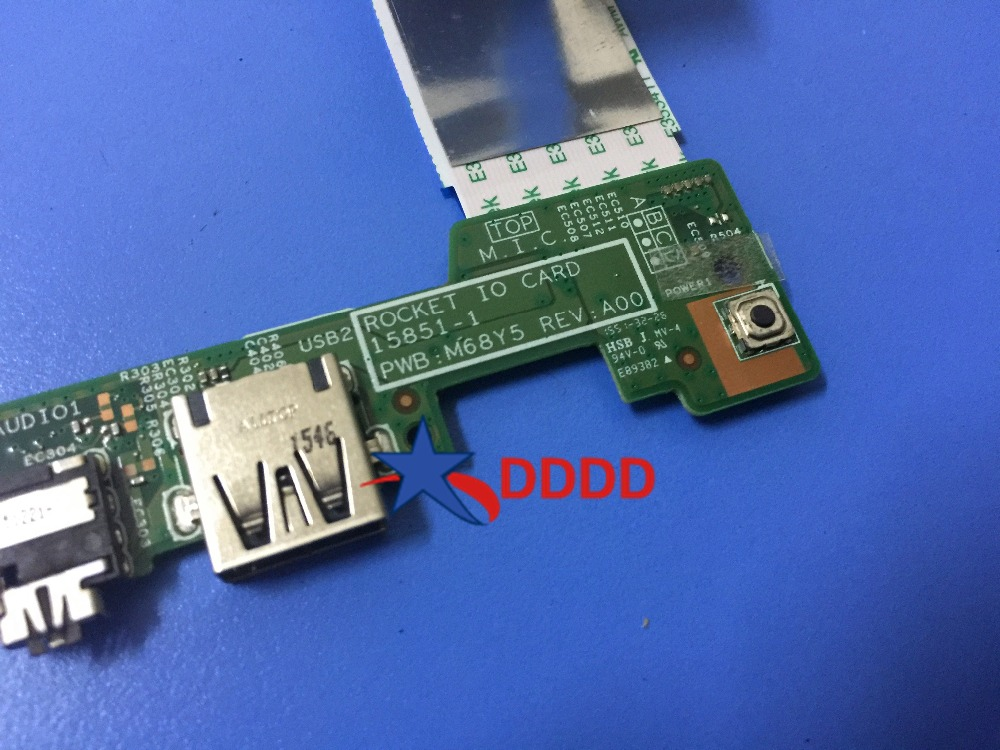 Original FOR Dell Inspiron 11 3162 3164 USB Audio Port IO Circuit Board M68Y5 0M68Y5 fully