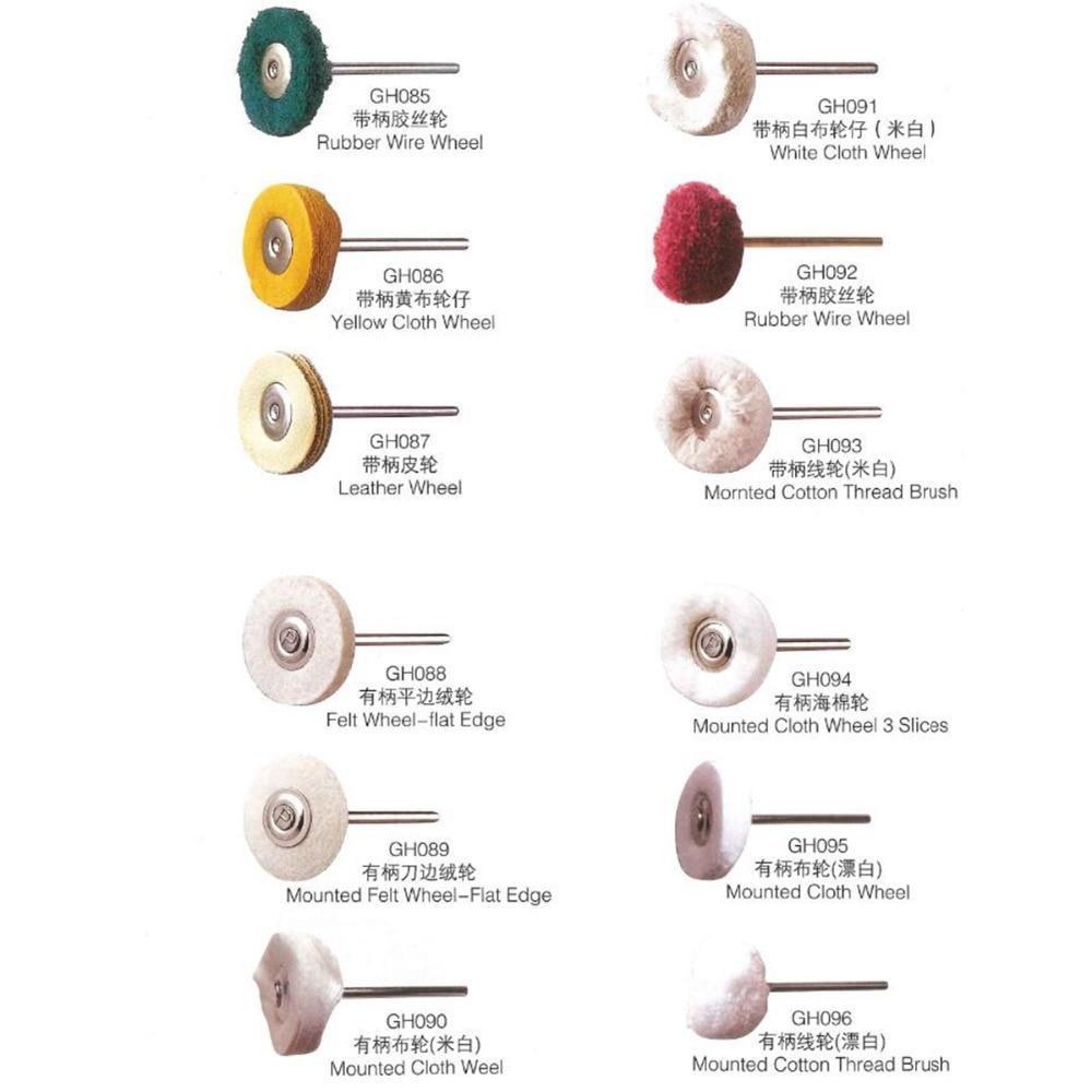 100pcs Cloth Jewelry Polishing Wheel 2.35mm Buffing Brush Electronic Dremel Accessories