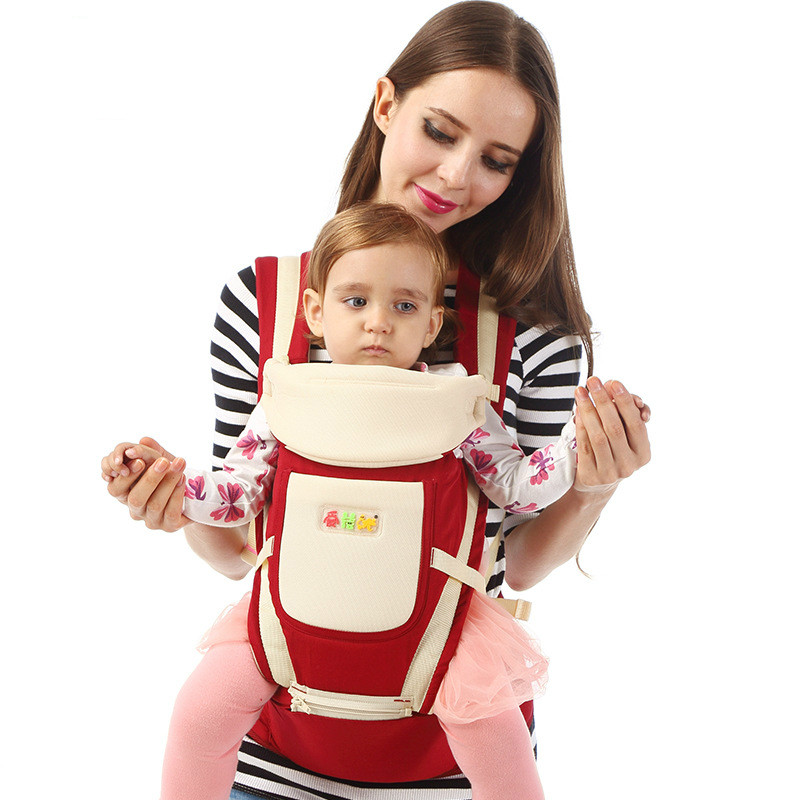 Multifunction Kangaroo Baby Carrier 0-36 With Hood Sling Backpack Infant Hipseat Adjustable Wrap For Carrying Children 2016 hot portable baby carrier re hold infant backpack kangaroo toddler sling mochila portabebe baby suspenders for newborn