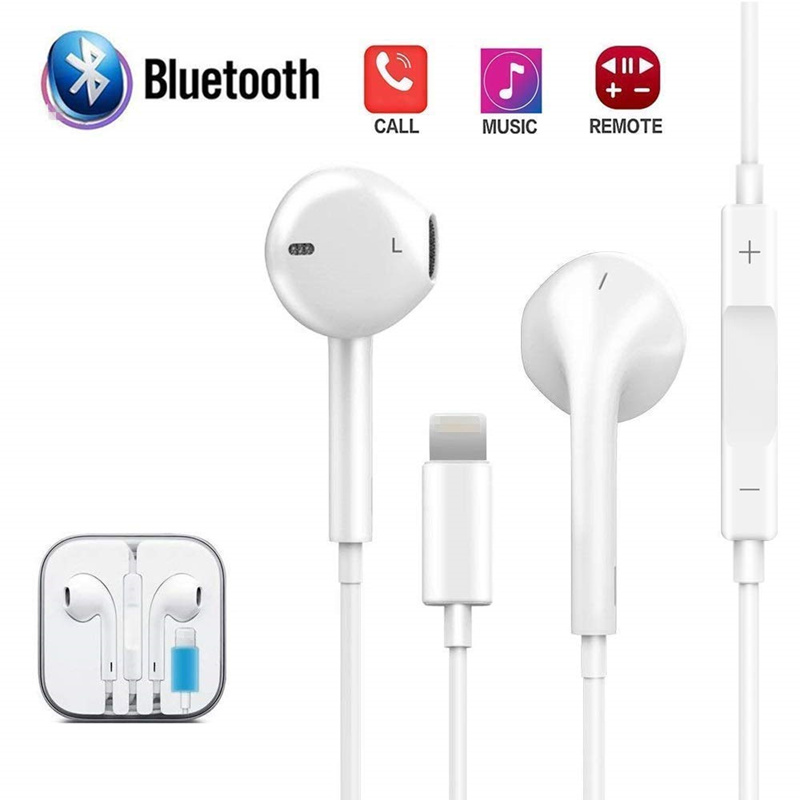 Stereo Headphones Wired Bluetooth Earphone for Apple IPhone 8 7 Plus X XR XS Max 10 Fone De Ouvido Sports Auriculares Earpiece(China)