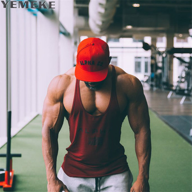 YEMEKE Brand   Tank     Tops   2017 Men Bodybuilding Casual Gyms   Tank   Undershirt Muscle Vest Fashion High Quality Muscle   Tanks