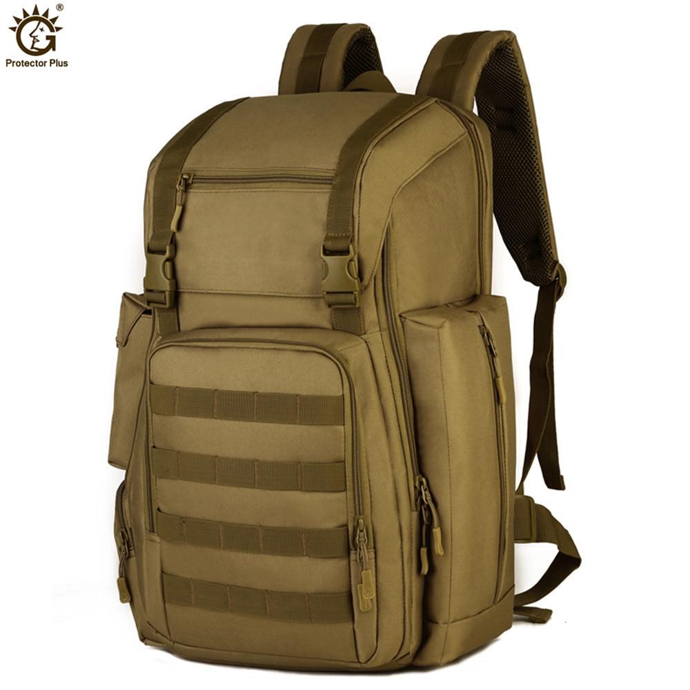 40L 17 cali laptop taktyczna wojskowa plecak torba sportowa wodoodporna nylonowa armia Molle System na Camping piesze wycieczki wspinaczka w Torby wspinaczkowe od Sport i rozrywka na