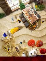 Custom 3d Floor Tiles Shell Sea Turtles Wallpapers 3d Floor Painting Photo Wall Paper 3d Flooring