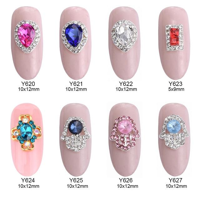 10pcs Sparkle Nail Crystals Strass Rhinestones Glitter Gems Alloy 3d