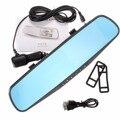 Лучшая Цена 4.3 Дюймов HD 1080 P Cam Video Recorder Вид Сзади Реверсивный Парковка Зеркала Автомобиля Камера DVR
