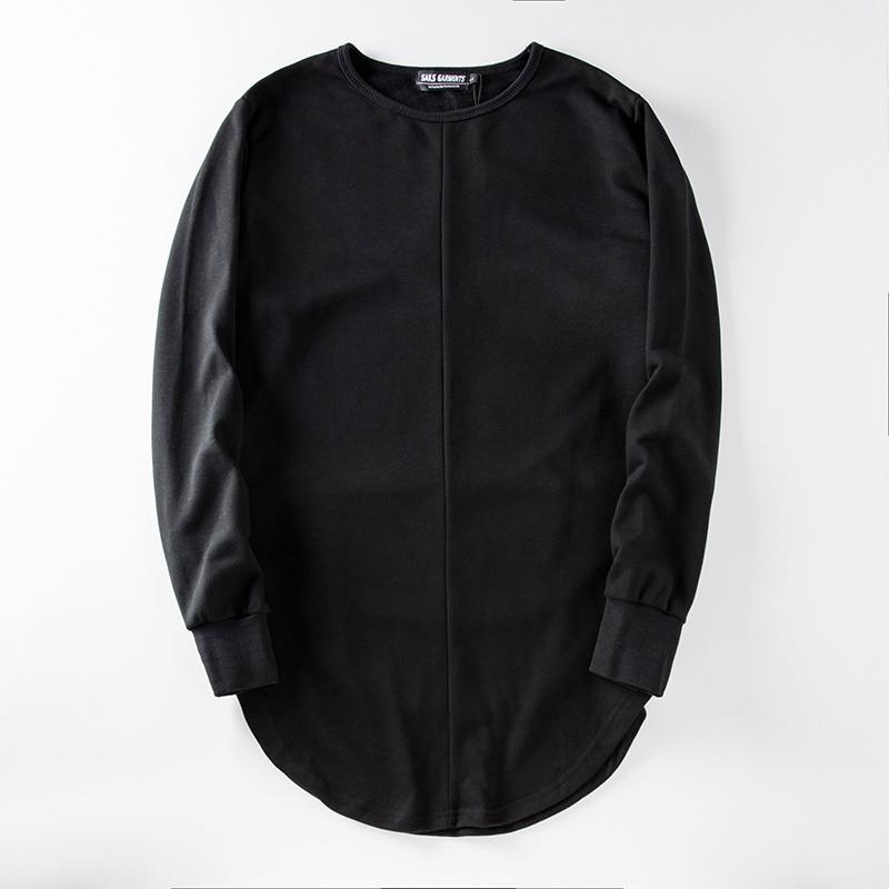 Cross Printed Hip Hop Sweatshirt Men 17Spring Streetwear Curved Hem Side Zipper Plain Mens Sweatshirts and Hoodies Man Clothes 28