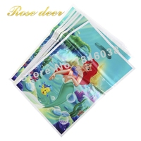 500pcs Lot Mermaid Theme Party Gift Bag Party Decoration Plastic Candy Bag Loot Bag For Kids