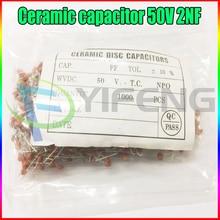 New 100PCS & 1000PCS Ceramic capacitor 50V 2NF 202M