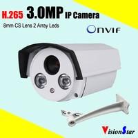 Advanced H 265 Ov4689 Cmos Sensor 3 0mp Infrared Bullet Security Ip Camera P2p Onvif Mobile
