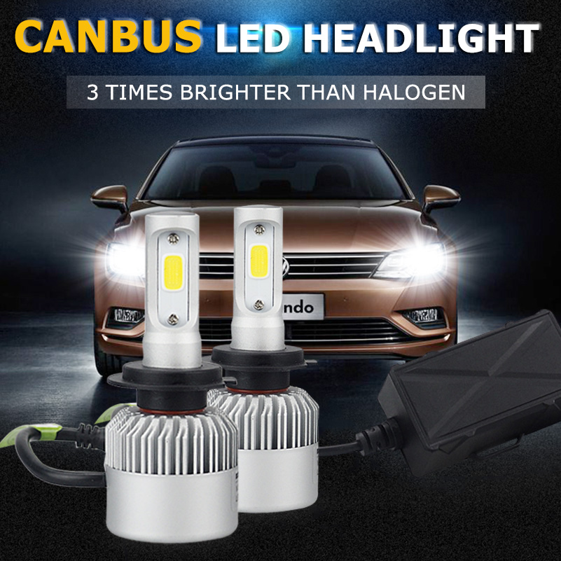 For VW Golf 4 5 6 7 GTI City Canbus H7 LED Headlights Bulb Plug and Play COB LED Car Headlights Auto Fog Lamps H7 Headlamp