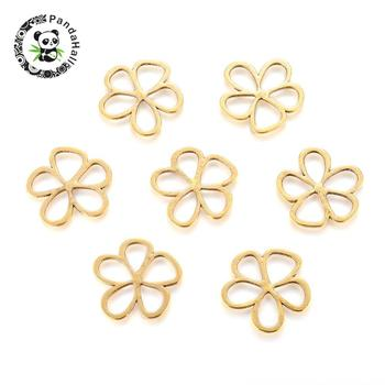 Tibetan Style Alloy Pendants, Lead Free and Cadmium Free & Nickel Free, Flower, Antique Golden, 35x35x1.5mm