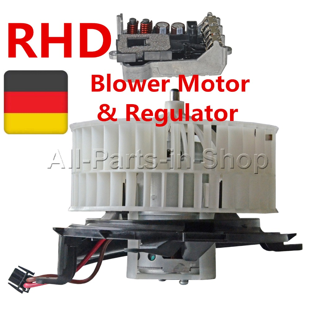 Blower Motor + Regulator for Mercedes S-Class W220 C215 & for  Maybach 1999-2012 (RHD) OE#:, 2208203542,A2208203542 blower motor resistor cotrol module regulator 89018778 for gm buick chevrolet