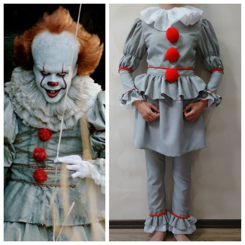 2018 Stephen King's It Pennywise Cosplay enfants Costume adulte enfants unisexe femmes costume Halloween terreur Clown costume