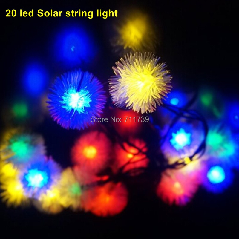 5set 20 Led Solar String Lighting Outdoor Lighting Garden Decorative Solar String Light For Outdoor Garden