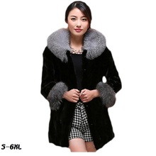 Fur coats for women new faux  coat 2017 hot silver fox fur collar mink coat fashion plus size womans faux fur coat TYJTJY new fur coat 2017 nightclub fashion man made sleeves with a hat hat raccoon big faux fur coat jacket size womans faux fur coat