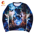 2017 Spring Long Sleeve Men Sweatshirt Crewneck 3D Sweatshirts Print Starry Sky Cotton Novelty Sweat Shirts Moletom Masculina
