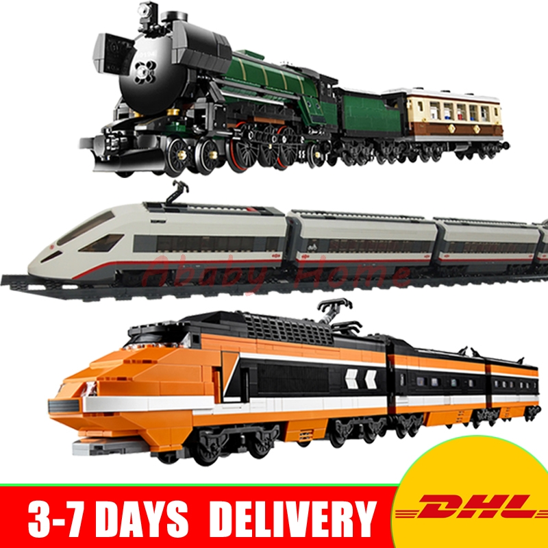 Lepin 21005 + 21007 +02010 Genuine Technic Ultimate Series Emerald Night Train Set Building Blocks Bricks Educational Toys 2016 new lepin 21005 creator series the emerald night model building blocks set classic compatible legoed steam trains toys