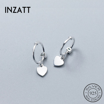 925 Sterling Silver Heart Exquisite Hoop Earrings