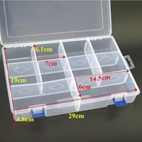 10 Grids L 30cm Plastic Detachable Storage Boxes Bins For Tools Jewelry Fishing Gear Screw Desk
