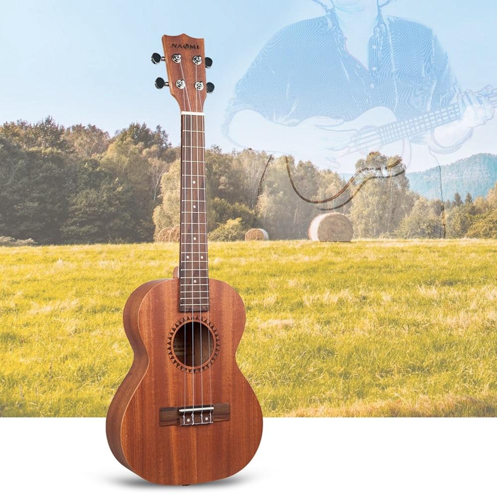 NAOMI cordes Instrument de musique 26 pouces ukulélé Sapele palissandre Nylon jouet guitare Ukeleles pour débutants enfants en bas âge - 2