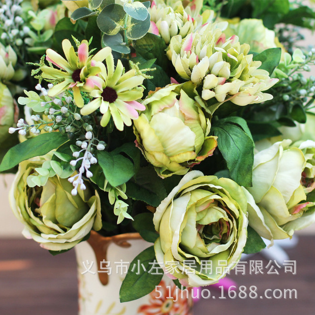 Classical european oil painting peony silk flowers export peonies classical european oil painting peony silk flowers export peonies buds artificial japanese anemones bouquets for decoration mightylinksfo