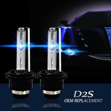 2 × D2S 35 ワットヘッドライト電球 HID 85122 66040 交換ランプアウディ BMW メルセデス