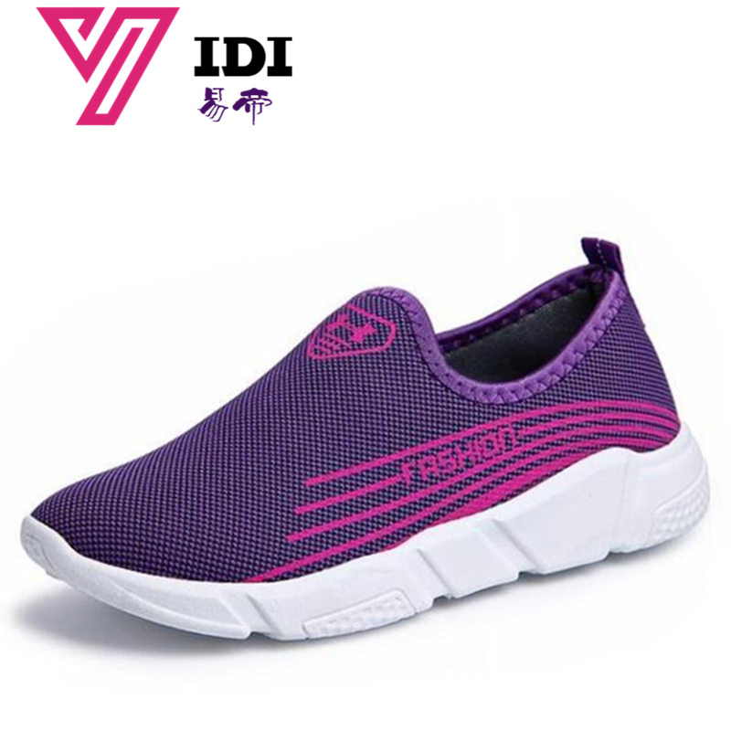 YIDI 2018 New Women's Casual Breathable Air Mesh Shoes Lightweight Slip Summer Thick bottom Flats dames sneakers sneaker woman
