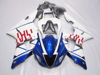 Molde de Inyección de Plástico ABS Carenado Para Yamaha YZF R1 YZFR1 1998 1999 YZF-R1 YZF1000 98 99 Carenados de Carrocería Carenado Azul Blanco Moto