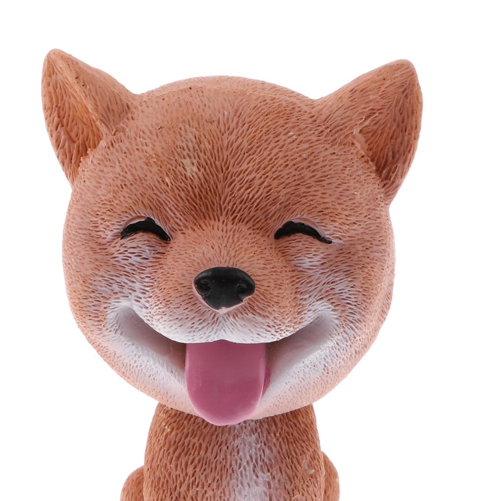 Качая головой Шиба ину Lucky Dog щенок подпрыгивая головы Пупс игрушки, фигурки животных приборной панели автомобиля Авто украшения