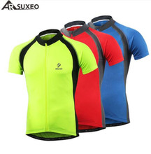 ARSUXEO Outdoor Sports Cycling Jersey Summer Men Bicycle Short Sleeves Clothing MTB Road Mountain Bike