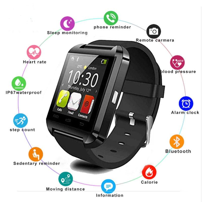 Homens Relógio Do Esporte Do Bluetooth inteligente Relógios Das Senhoras Das Mulheres Rel gio Smartwatch com Slot Para Cartão Sim Câmera Android Telefone PK DZ09 y1 A1
