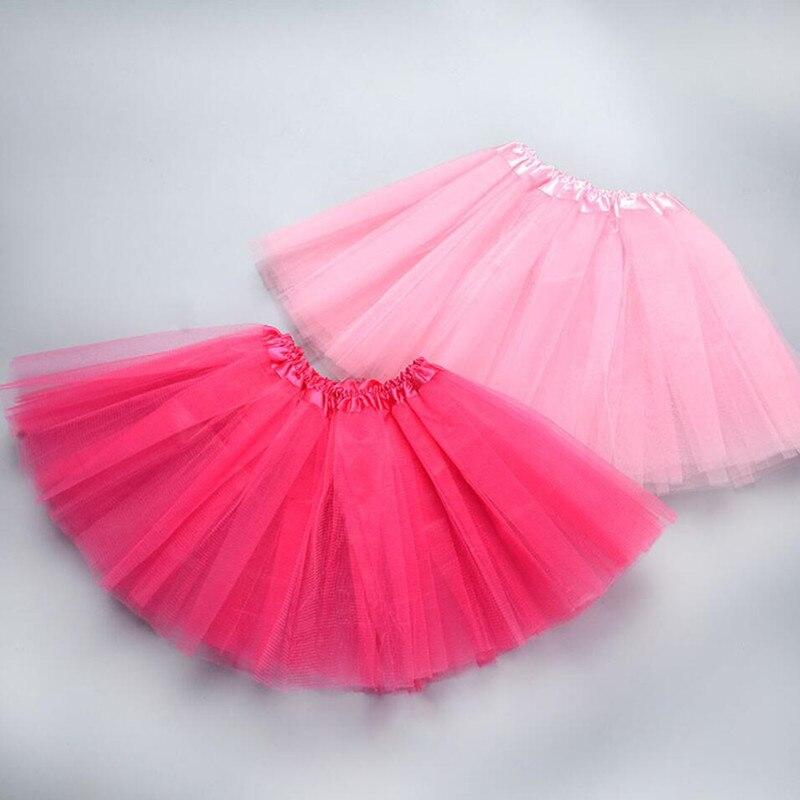2-7Y Baby Girls Tutu Skirts Kids Toddler Pettiskirt Dance Ballet Tulle Skirt Princess Ball Gown Children Mesh Skirt A331