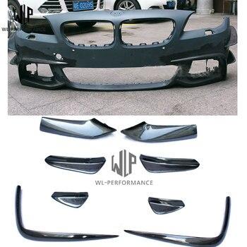 Série 5 F10 F18 Nevoeiro caixa de luz De fibra de Carbono side saídas de ar do lado do carro divisor queixo para reequipamento carro MT body kit 11-17 car styling