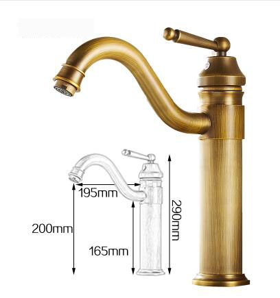 все цены на 7 types antique brass sink basin faucet,Retro bathroom single hole basin faucet vintage,Gold plated cold and hot water tap mixer