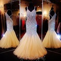 Vestido De Festa Querida Pérolas Vestidos de Baile Curtos 2017 Custom Made Baratos Vestidos de Festa Robe De Soirée Transporte Rápido