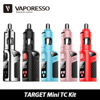 100 Original 40W Vaporesso TARGET Mini TC Starter Kit Built In 1400mAh Battery Atomizer Capacity 2ml