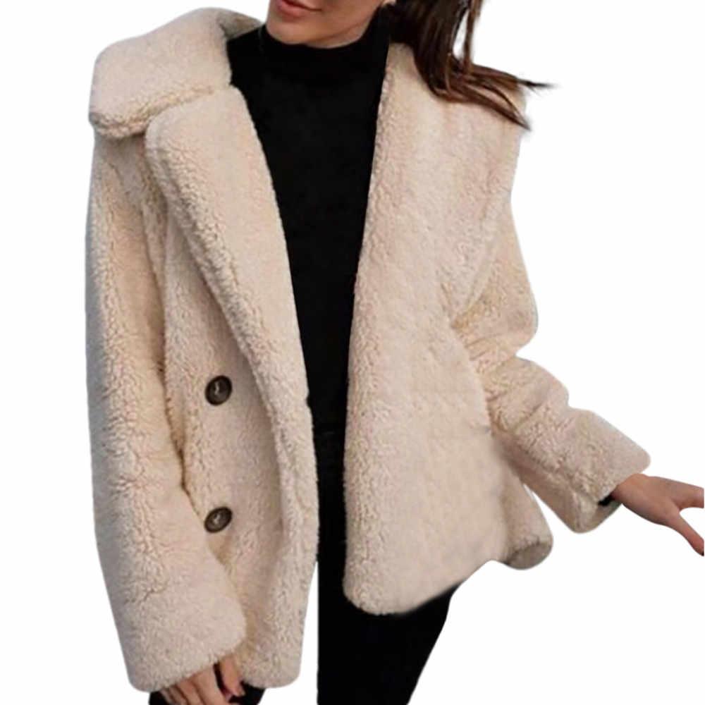 JAYCOSIN ผู้หญิงฤดูหนาวสบายๆอบอุ่น Parka Jacket เสื้อโค้ทสีทึบเสื้อกันหนาวนอก Oct.5