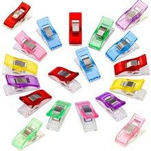 10 piezas de trabajo pie caja Clips de plástico Multicolor dobladillo herramientas de costura accesorios de costura manualidades de costura AA8270