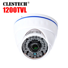 1200tvl 1/3Cmos HD CCTV Camera indoor infrared Night Vision 2.8mm Wide Angle indoor Home Dome video security Surveillance vidico