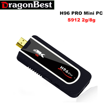 Mini PC H96 PRO Amlogic S912 64bit Octa-core(H.265 4K) 2.4G Wifi Android 7.1 Tv Box 2G 8G Smart Box HDMI Tv Stick Full HD 1080P