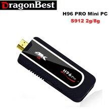Mini PC H96 PRO Amlogic S912 64bit Octa-core(H.265 4K) 2.4G Wifi Android 7.1 Tv Box 2G 8G Smart Box HDMI Tv Stick Full HD 1080P
