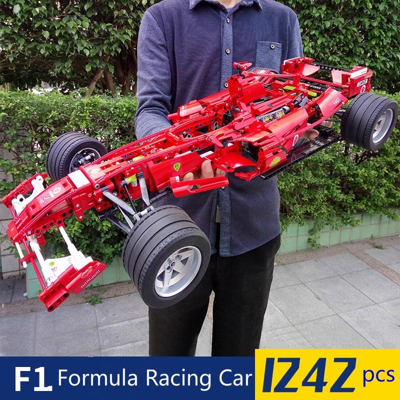 1242pcs Formula Racing Car 1:8 Model Building Blocks Sets Educational DIY Bricks Toys  Technic 8674