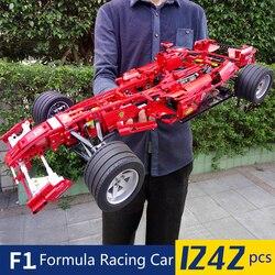 1242pcs Formula Racing Car 1:8 Model Building Blocks Sets Educational DIY Bricks Toys Compatible Technic 8674