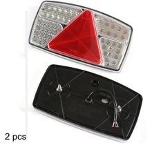 1 paire AOHEWEI 10 30 V lumière LED de remorque indicateur de lumière/arrêt/marche arrière/feu arrière avec réflecteur position lumière LED feu de position latéral