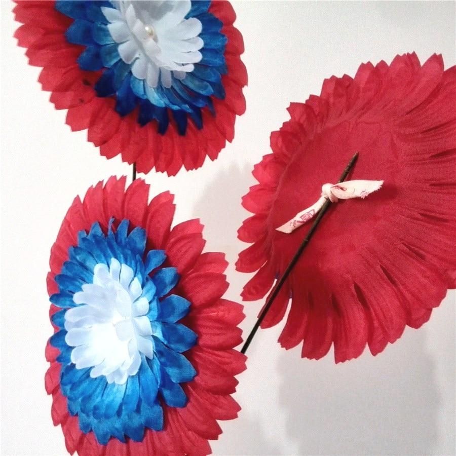 Silk Gerbera Head Creative 2 Flag Coloredredbluewhite Fancy