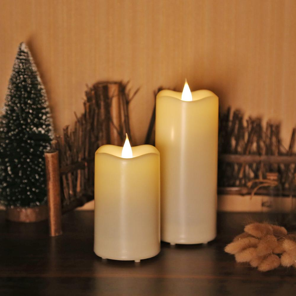 Giveu Waterproof Pillar Candle Led