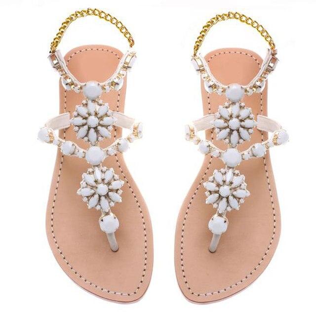 ec20f794 Zapatos de mujer Sandalias cómodas Sandalias planas 2018 sandalias de playa  de moda de verano Sandalias. Sitúa el cursor encima para ...